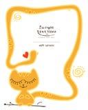 Petit chat jaune somnolent Illustration Libre de Droits