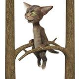 petit chaton 3D tigré pelucheux Illustration Stock
