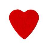 Petit coeur de rouge de feutre Photo libre de droits