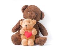 Petit coeur mignon de prise d'ours de nounours Images libres de droits