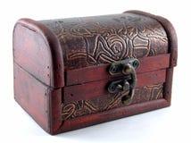 Petit coffre en bois avec le verrou Photographie stock libre de droits