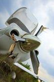 Petit crash d'avion Photo stock