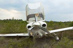 Petit crash d'avion Image stock