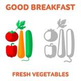petit déjeuner 1205 éléments 16 illustration libre de droits