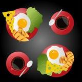 Petit déjeuner illustration de vecteur