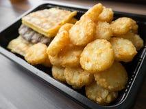 Petit déjeuner américain de nourriture industrielle malsain Images libres de droits