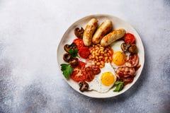 Petit déjeuner anglais de plat Photographie stock
