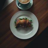 Petit déjeuner au coffeteria Image stock