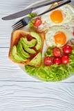 Petit déjeuner australien sain d'un plat image stock