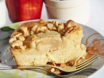 Petit déjeuner avec la tarte aux pommes Photos stock