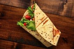 Petit déjeuner avec le sandwich Images libres de droits