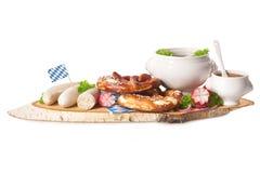 Petit déjeuner bavarois de saucisse de veau Image stock