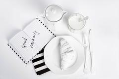 Petit déjeuner blanc Photographie stock