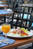 Petit déjeuner bon et sain Photo stock