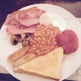 Petit déjeuner britannique Images stock