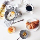 Petit déjeuner classique Image libre de droits