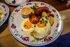 Petit déjeuner commun biélorusse photo libre de droits