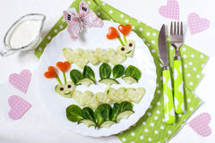 Petit déjeuner créatif pour le jour de valentines image stock
