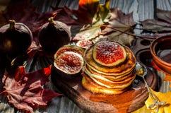 Petit déjeuner délicieux d'automne Images stock