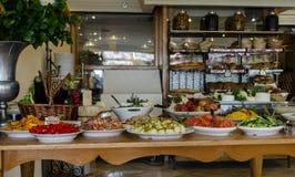 Petit déjeuner délicieux de Mizpe Hayamim Photos stock