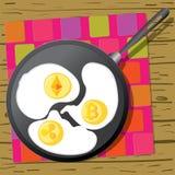 Petit déjeuner d'affaires illustration stock