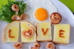 Petit déjeuner d'amour Photos stock