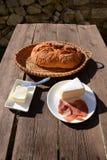 Petit déjeuner dans le jardin Images stock