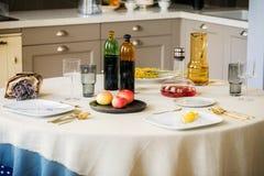Petit déjeuner dans le style scandinave photo libre de droits