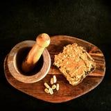 Petit déjeuner de beurre d'arachide Image libre de droits