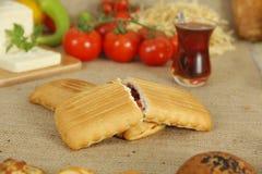 Petit déjeuner de biscuit et de thé Photo stock