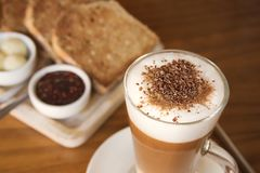 Petit déjeuner de café image libre de droits