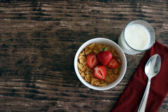 Petit déjeuner de fraise de céréale Image stock