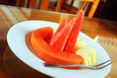 Petit déjeuner de fruits photo libre de droits