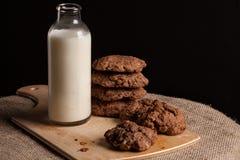 Petit déjeuner de lait photographie stock libre de droits