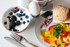 Petit déjeuner de matin Images libres de droits