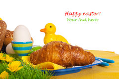 Petit déjeuner de Pâques Image libre de droits
