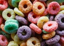 Petit déjeuner des céréales colorées photo libre de droits