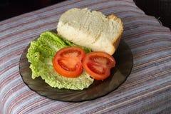 Petit déjeuner des plats Photos stock