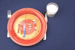 Petit déjeuner diététique, dopage anabolique image stock