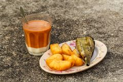 Petit déjeuner en Thaïlande photo stock