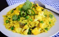 Petit déjeuner indien Poha images stock