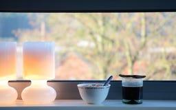 Petit déjeuner isolé dans la ville du Luxembourg Photo libre de droits