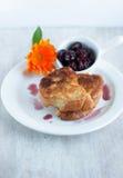Petit déjeuner léger - morceaux de pain grillé Image stock
