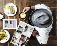 Petit déjeuner mangeant la nourriture et le concept de restaurant de boissons Photo libre de droits