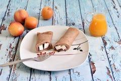 Petit déjeuner naturel, sain et exquis Image libre de droits