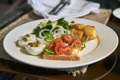 Petit déjeuner norvégien Image libre de droits