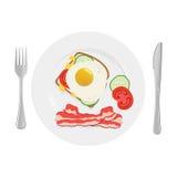 Petit déjeuner nutritif et sain de petit déjeuner Image libre de droits
