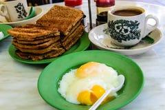 Petit déjeuner réglé à Singapour Image libre de droits