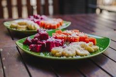 Petit déjeuner sain de fruit Image libre de droits