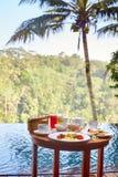 Petit déjeuner traditionnel de Balinese Images stock